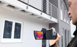 Тепловизор Testo 882. Проведение анализа ограждающих конструкций и обеспечение консультации по энергоэффективности